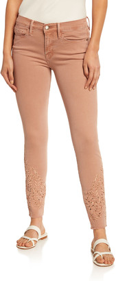 Frame Le Skinny de Jeanne Foliage Eyelet Skinny Jeans
