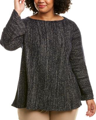 Lafayette 148 New York Plus A-Line Cashmere-Blend Sweater