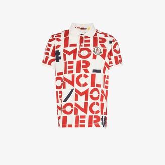 MONCLER GENIUS Logo print polo shirt