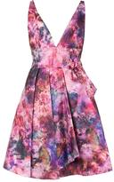 Marchesa flared flower dress - women - Polyester - 4