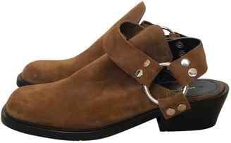Balenciaga Beige Suede Sandals