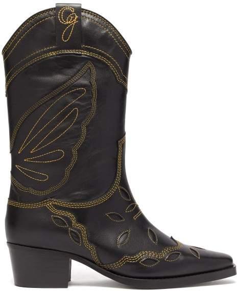 9286b1f06e1 High Texas Leather Cowboy Boots - Womens - Black