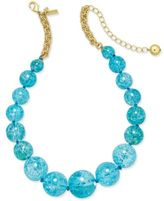 Kate Spade Gold-Tone Large Blue Bauble Collar Necklace