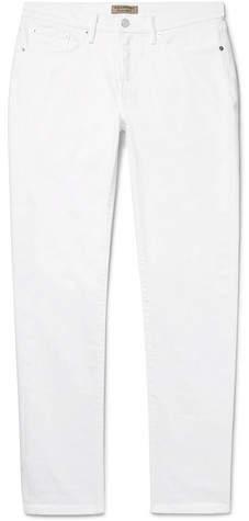 Burberry Slim-Fit Denim Jeans - Men - White