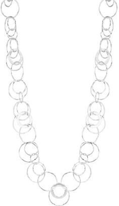 Ippolita Classico Hammered Sterling Silver Jet Set Disc Necklace