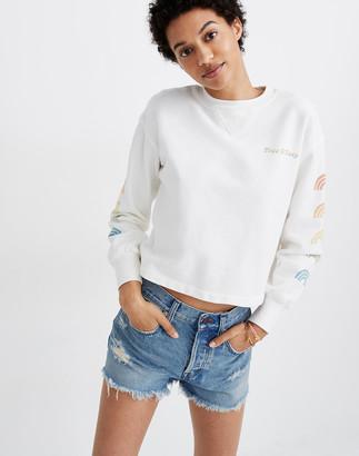 Madewell x Free & Easy Rainbow Graphic Crewneck Sweatshirt