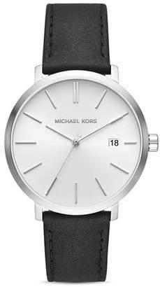 Michael Kors Blake Black Leather Strap Watch, 42mm