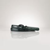 Ralph Lauren Croc-Embossed Skinny Belt