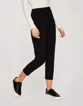 Miss Selfridge scuba tapered joggers in black