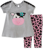 Kids Headquarters 2-Pc. Cow Tunic & Leggings Set, Baby Girls (0-24 months)