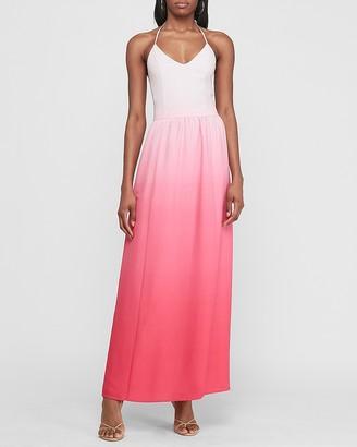 Express Ombre Halter Maxi Dress