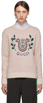 Gucci Off-White Wool Harp Sweater