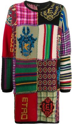 Etro Patchwork Wool Jumper Dress