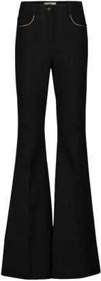 Fendi High-rise flared jeans