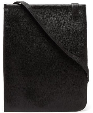 Lemaire Grained-leather Tote Bag - Black
