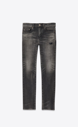 Saint Laurent Tokyo Black Stretch Denim Skinny Jeans Anthracite 27