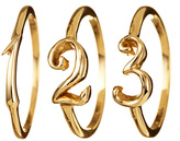 Lulu Frost Code Number Ring - 14K Yellow Gold