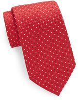 Saks Fifth Avenue Silk Neat-Pattern Tie