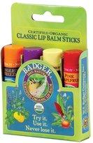 Badger Classic Lip Balm 4 Pack - Green