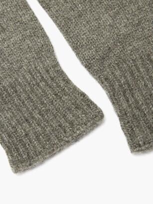 KHAITE Kai Cashmere Fingerless Gloves - Grey
