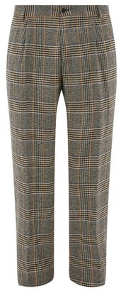Dolce & Gabbana Glen Check Wool Blend Trousers - Mens - Black Multi
