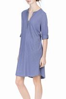 Lilla P Tab Sleeve Henley Dress