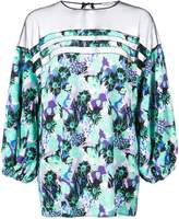Ungaro sheer panel blouse