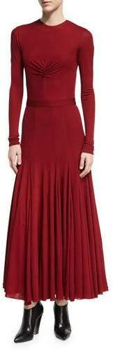 Derek Lam Ruched-Bodice Viscose Maxi Dress