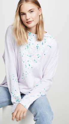 Wildfox Couture Bleach Drip Roadtrip Sweatshirt