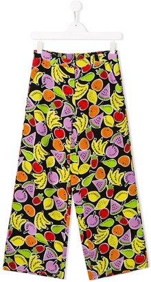 Stella McCartney Fruit Print Wide Leg Trousers