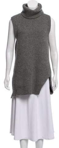 Celine Sleeveless Wool-Mohair Turtleneck