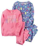 Carter's Size 18M 4-Piece Sweet Dreams Pajama Set in Pink