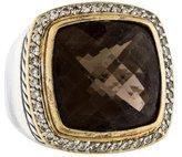 David Yurman Two-Tone Smoky Quartz & Diamond Albion Ring