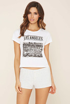 Forever 21 FOREVER 21+ Los Angeles Graphic PJ Set