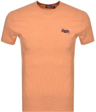 Superdry Short Sleeved T Shirt Orange