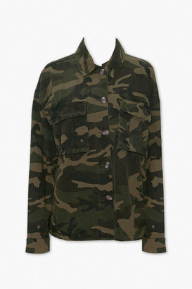 Forever 21 Camo Button-Down Jacket