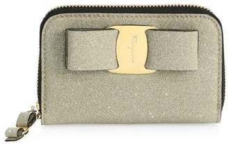 Salvatore Ferragamo Tess Sparkle Zip-Around Card Case