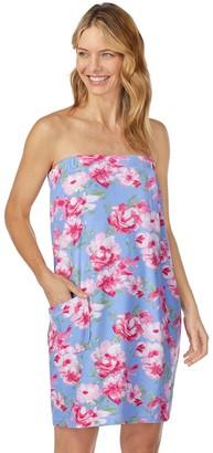 Stan Herman Women's Floral Terry Shower Wrap