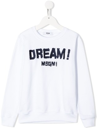 Msgm Kids Dream Print Sweatshirt