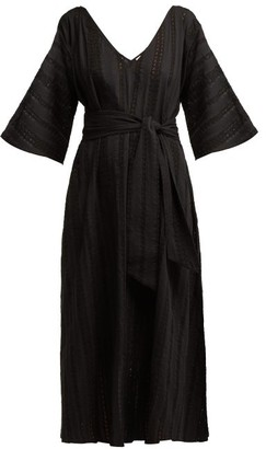 Merlette New York Villandry V-neck Eyelet-lace Cotton Dress - Black