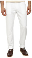 AG Adriano Goldschmied Graduate Tailored Leg Linen Five-Pocket Pants in White