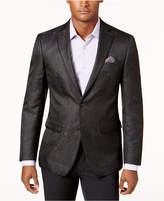 Tallia Men's Big and Tall Slim-Fit Black Brocade Dinner Jacket