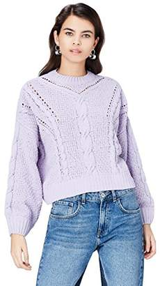 find. Women's Jumper in Chunky Cable Knit with Long Sleeves and Turtleneck,(Manufacturer size: XXX-Large)