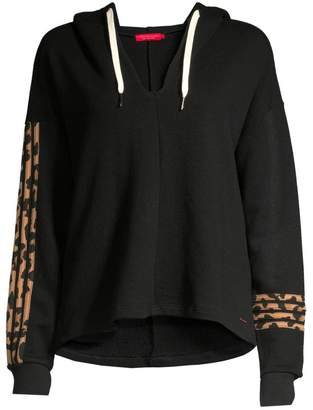 n:philanthropy Winslow Hooded Leopard-Stripe Sweatshirt