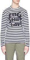 Comme des Garcons 'Boys' patch stripe long sleeve T-shirt