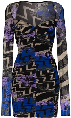Emilio Pucci Graphic-Print Midi Dress