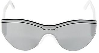 Balenciaga 99MM Rounded Shield Sunglasses