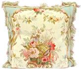 One Kings Lane Vintage Floral/Music Instrument Aubusson Pillow