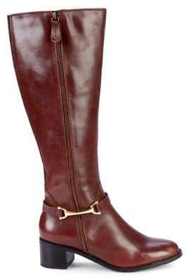 Carvela Comfort Waffy Leather Buckle Tall Boots
