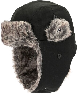 Yohji Yamamoto Faux Fur Trim Earflap Hat